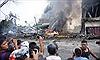 Máy bay Indonesia rơi trúng khách sạn, ít nhất 30 người chết