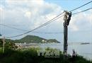 Xây dựng đường dây 110kV vượt biển dài nhất Việt Nam
