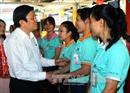 Chủ tịch nước Trương Tấn Sang thăm và chúc Tết công nhân lao động