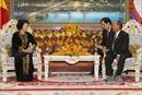 Chủ tịch Quốc hội Nguyễn Thị Kim Ngân hội đàm với Chủ tịch Quốc hội Campuchia