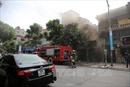 Cháy phòng tranh trên phố Nguyễn Thái Học là do chập điện