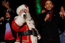 Ông Obama hát Jingle Bells lần cuối tại Nhà Trắng