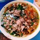 Bún ốc riêu bò vị chua thanh nhẹ phố Triệu Việt Vương