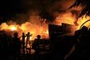 Cháy lớn tại kho chứa bột sắn ở Đồng Nai