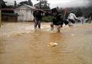 Cảnh bão lũ trên các sông ở miền Bắc và ngập lụt tại Hà Nội