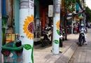 Những cây cột điện bất ngờ… nở hoa