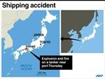 Nổ tàu chở dầu ngoài khơi biển Nhật Bản