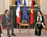Phó Chủ tịch nước Nguyễn Thị Doan gặp Chủ tịch Thượng viện Pháp