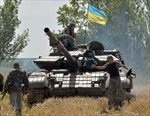 30 binh sĩ Ukraine chết vì trúng rocket quân ly khai