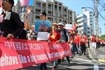 Người Việt tại Hiroshima biểu tình phản đối Trung Quốc