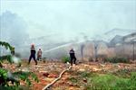 Cháy lớn tại công ty gỗ ở Bình Dương