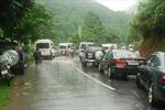 Lào Cai: Quốc lộ 70 ách tắc nhiều giờ do sạt lở đất