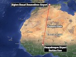 Máy bay Algeria mất tích sau khi đổi hướng