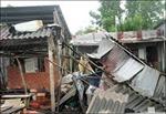 Lốc xoáy làm sập và tốc mái hơn 30 căn nhà ở Hậu Giang