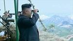 Hình ảnh ông Kim Jong Un thị sát diễn tập quân sự