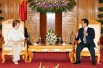 Thủ tướng Nguyễn Tấn Dũng tiếp Phó Chủ tịch Ủy ban châu Âu