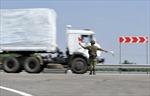 Đoàn xe cứu trợ của Nga lên đường về nước