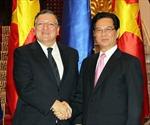 Thủ tướng Chính phủ Nguyễn Tấn Dũng hội đàm với Chủ tịch EC
