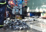 Cháy lớn cửa hàng bách hóa ở Quảng Bình