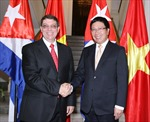 Phó Thủ tướng Phạm Bình Minh hội đàm với Bộ trưởng Ngoại giao Cuba