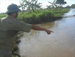Tắm sông, một học sinh bị nước cuốn trôi
