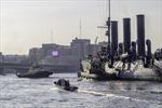 Dân Nga nô nức xem lai dắt chiến hạm Rạng Đông