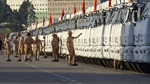Lính Nga luyện tập bảo vệ đoàn xe nhân đạo
