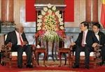 Chủ tịch nước Trương Tấn Sang tiếp Thủ tướng Vanuatu
