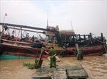 Cháy tàu cá, ước thiệt hại gần 1 tỷ đồng