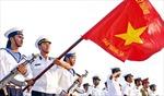 Linh thiêng chào cờ ở đảo Trường Sa