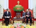 Đồng chí Tô Huy Rứa tiếp Giám đốc Học viện Chính sách Quốc gia Nhật Bản