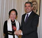 Phó Chủ tịch nước Nguyễn Thị Doan hội kiến Tổng thống Bulgaria