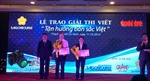 """Trao giải cuộc thi """"Tận hưởng bản sắc Việt"""""""