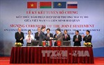 Kết thúc đàm phán Hiệp định thương mại tự do Việt Nam-Liên minh Hải quan