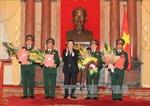Phong hàm thượng tướng quân đội cho 4 đồng chí