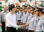 Chủ tịch nước thăm các đơn vị Hải quân đóng tại Cam Ranh