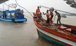 Đưa vào bờ an toàn 9 thuyền viên gặp nạn trên biển