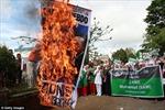 Người Hồi giáo khắp nơi biểu tình lên án biếm họa mới
