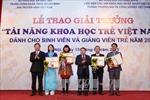 5 giảng viên được trao thưởng Tài năng khoa học trẻ