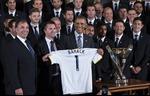 Các cầu thủ LA Galaxy diện kiến tổng thống Obama
