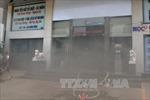 TPHCM: Cháy tại tầng hầm ngân hàng BIDC