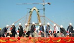 Hợp long tầng 2 cầu vượt Ngã Ba Huế - Đà Nẵng