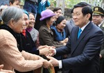Chủ tịch nước tặng quà người nghèo tại Hưng Yên, Hà Nam