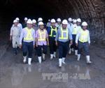 Bộ trưởng Đinh La Thăng chúc Tết đơn vị thi công hầm đèo Cả