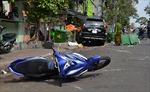 Ô tô 'điên' tông hai xe máy, một nạn nhân tử vong