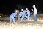 Thông tuyến đường sắt Bắc Nam sau tai nạn tàu hỏa