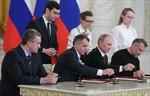 Trưng bày cây bút Tổng thống Putin ký sáp nhập Crimea