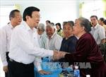 Chủ tịch nước Trương Tấn Sang thăm và làm việc tại Bình Thuận