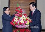 Chủ tịch nước Trương Tấn Sang tiếp Chủ tịch Hội Hữu nghị Lào-Việt