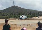 Trực thăng rơi tại đảo Phú Quý do gió giật mạnh